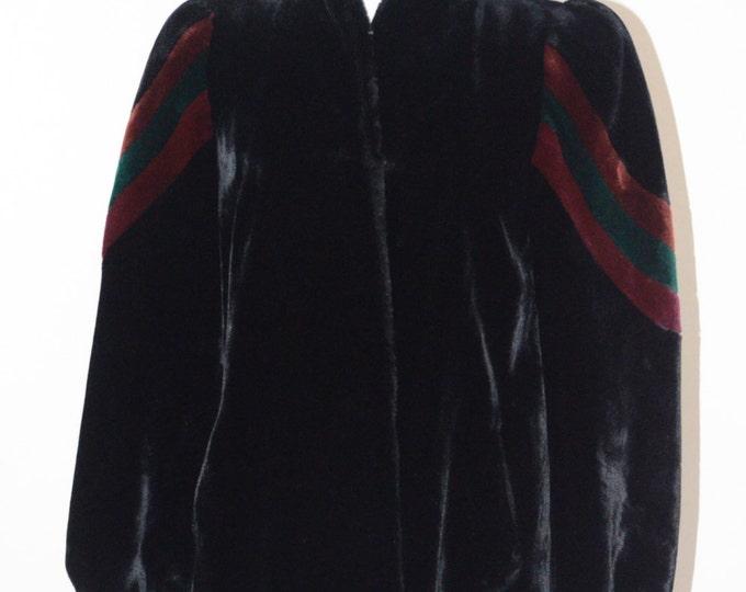 Vintage Estate Sasson New York Paris Black Borgazia Coat Made in USA ILGWU