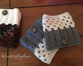 Boot Cuffs - leg warmers - Boot Socks - Crochet Boot Cuffs - Fashion Accessory - Winter Accessory  - Under 15 Gift - stocking stuffer