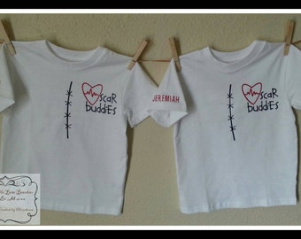 Scar Buddies CHD Awareness Friends t-shirts/onesies