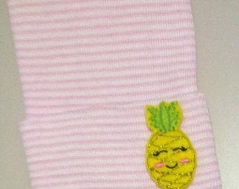 Newborn Beanie Hat. PINEAPPLE! Choice of Hat Colors. Super Cute. Perfect Gift! Newborn Hospital Hat. Baby's 1st Keepsake!