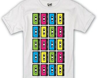 80s Retro Cassette Tape Mens T-Shirt