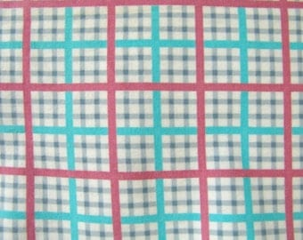 3 yds 50s flannel fabric vintage narrow width super soft pillow baby clothes