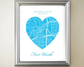 Fort Worth Heart Map