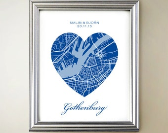 Gothenburg Heart Map