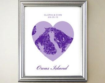 Orcas Island Heart Map