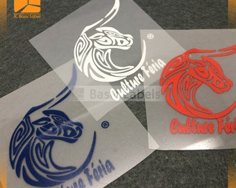 500 Tagless labels, iron on printed labels, Custom Heat Transfer Label, heat transfer vinyl