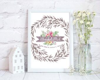 Wedding gift, Rustic Wedding gift, Wedding gift wall art, wedding gifts ideas, wedding gift ideas, wedding prints, wedding presents,