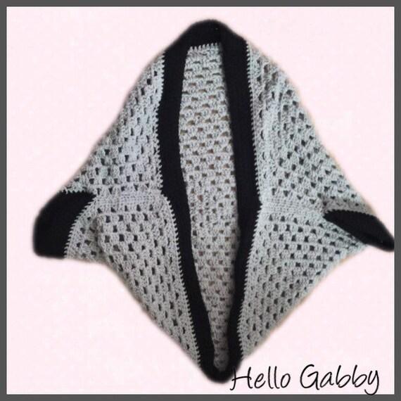 CROCHET PATTERN for Granny Square Cocoon Shrug, Crochet Shawl Scarf ...