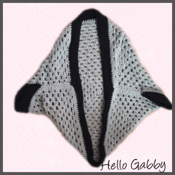 Crochet Granny Square Sweater Pattern : CROCHET PATTERN for Granny Square Cocoon Shrug Crochet Shawl
