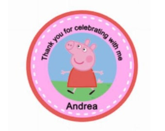 Peppa Pig Stckers/Peppa Pig Birthday Stickers/Peppa Pig Birthday/Peppa Pig Party/Peppa Baby Shower/Peppa Pig/Peppa Pig Party Favor