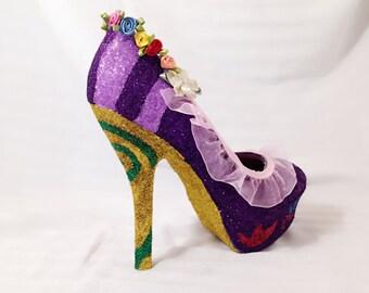 Princess Custom Rhinestone Heels/ Wedding/ Prom/ Party/ Cosplay
