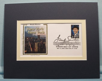 "Frank Sinatra, America's Great Entertainer noted for the song ""New York, New York"" & his First Day Cover"
