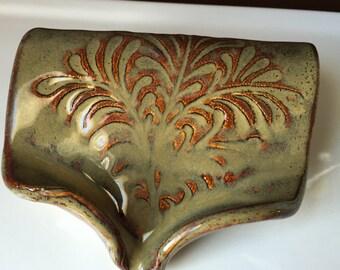 Self Draining Soap Dish - Waterfall Brown