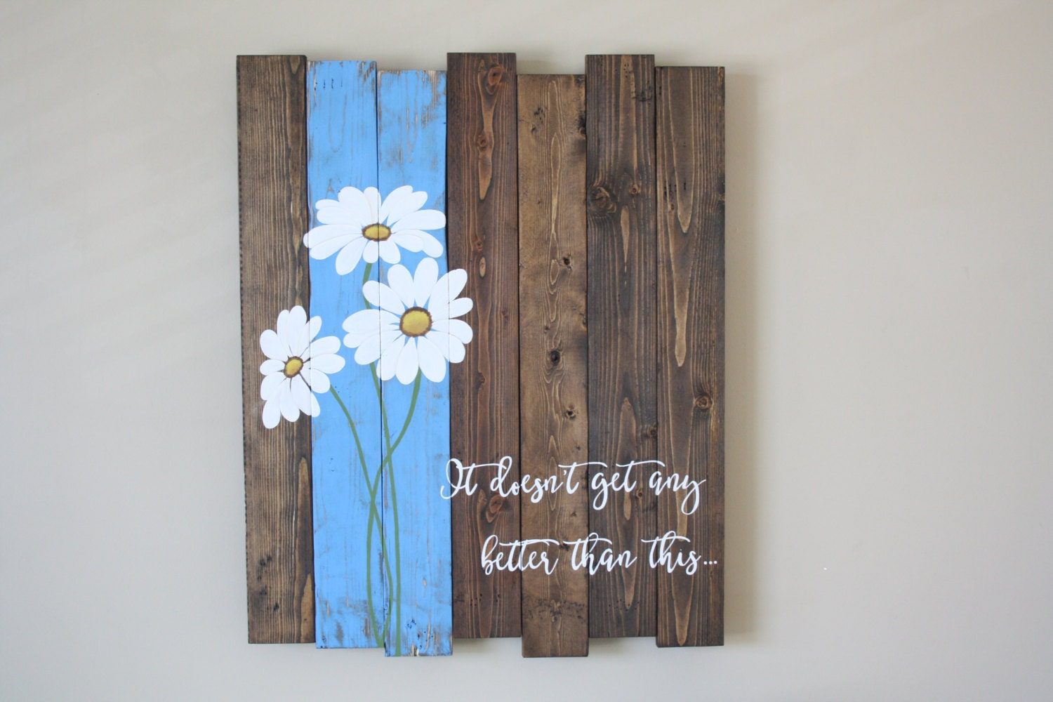 Pallet Wood Wall Art reclaimed wood wall art pallet wall art daisy wall art