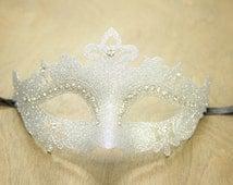 Silver Royal Glittery Venetian Masquerade Mask Costume Party Dance GPM001SL Glitter Collection Prom Ball