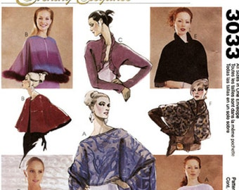 McCall's Sewing Pattern M3033 Misses' Capelets and Shrug Boleros