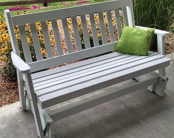 Yellow Pine Traditional English 4ft. Porch Glider