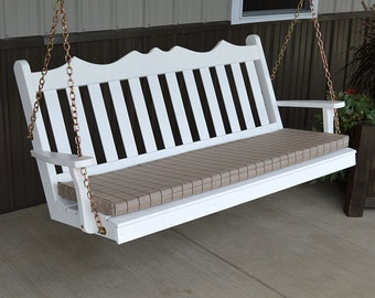 Yellow Pine Royal English 4ft. Outdoor Porch Swing