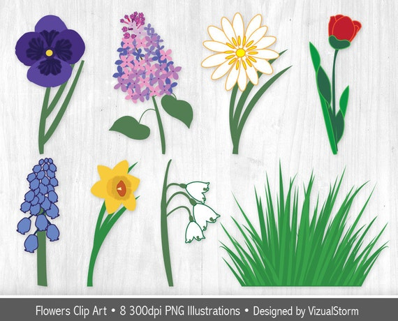 Spring Flowers Clipart Flower Garden Clip Art Graphics Tulip