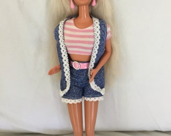 Barbie With Denim Shorts and Vest