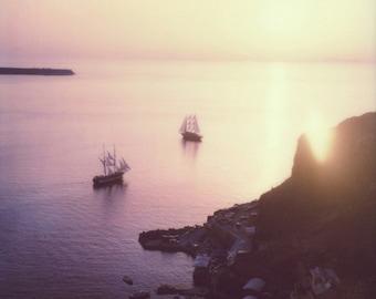 Ammoudi Bay | Polaroid Print | Santorini | Fine Art Photography