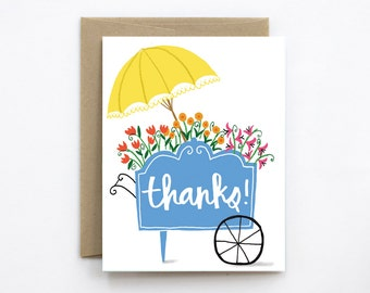 Flower Cart Thank You Card