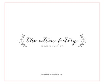 "Pre Made Logo Design - Boutique Logo - Small Business Logo - ""The Cotton Factory"""