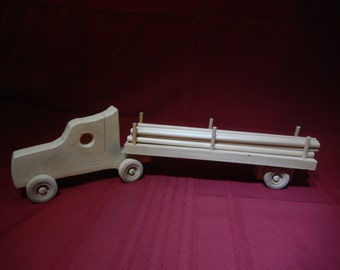 Hand Made Wood Logging Truck