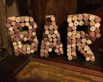 Natural Wine Cork Letters