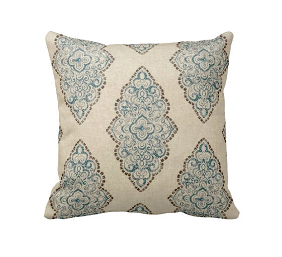 6 Sizes Available: Blue Decorative Throw Pillow Cover Blue