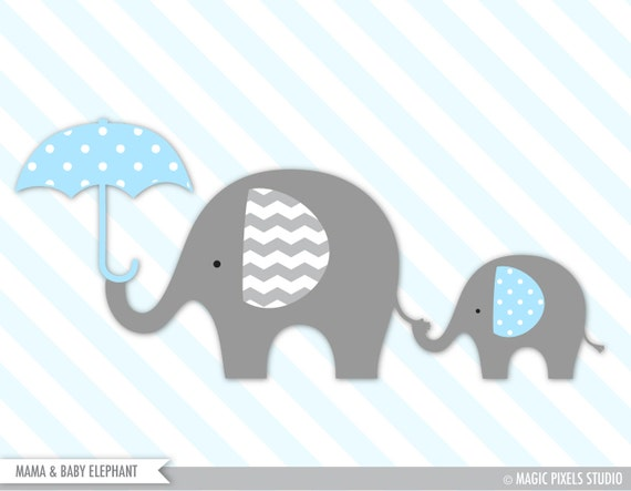 elephant baby shower clipart - photo #10