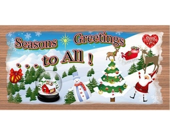 Wood Signs - Handmade Wood Sign Christmas - GS1453 -Wood plaque Christmas -Holiday Snowman Santa