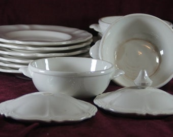 Vintage Ironstone Red-Cliff 13 Piece Set
