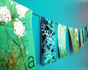 Garland spring horizontal decorative paper