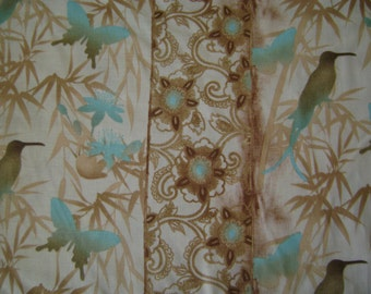 Butterfly Silhouette Strip Cotton Fabric Sold by the Yard