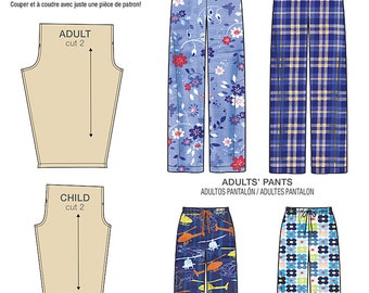 Simplicity Pattern 8022 Child's, Teens' and Adults' Pants