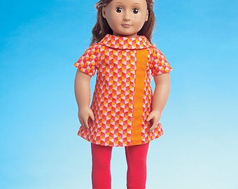 """McCall's Pattern M7336 Clothes for 18"""" Dolls"""