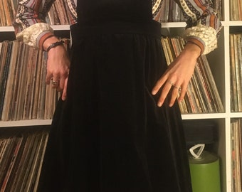 Black Velvet Badass vintage 60's dress