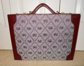 Vintage/retro Pabrini leather trim brief case