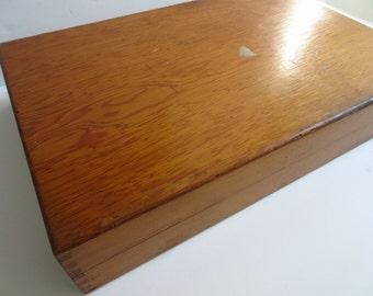 Vintage Wooden Box Bug Box Entomoloy Box Jewelry Box Silverware Box