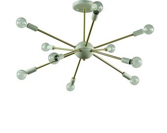 mid century modern sputnik atomic lamp starburst chandelier - Starburst Chandelier