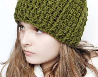 Crochet Pattern ~ The Swirl Hat - modern - beginner hat - 3 sizes - baby - child - adult - beanie - cap - button hat