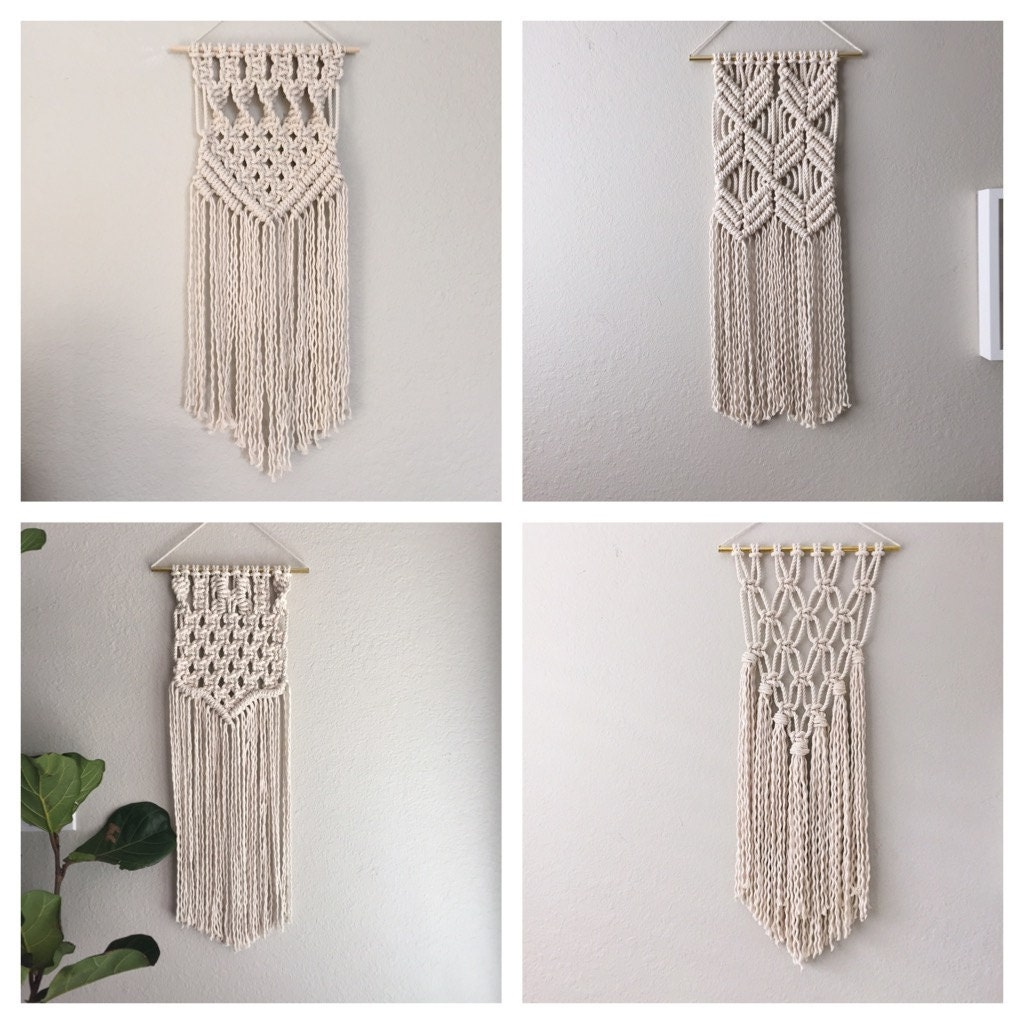 Macrame kit macrame wall hanging kit diy gift kit for macrame for Wall hanging images
