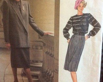 Vogue Patterns Paris Original 1600 Christian Dior skirt jacket and blouse pattern size 12