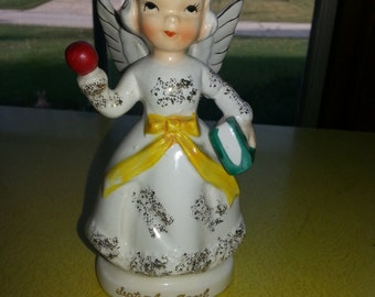 "Vintage 1950s ""September Angel"" Ceramic Gold Dusted Figurine NEAR MINT"
