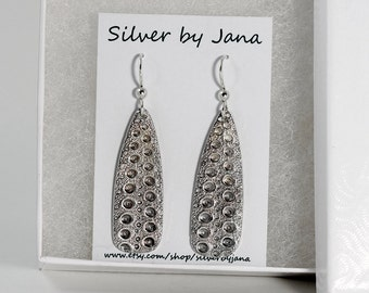 Fine Silver Sea Urchin Earrings