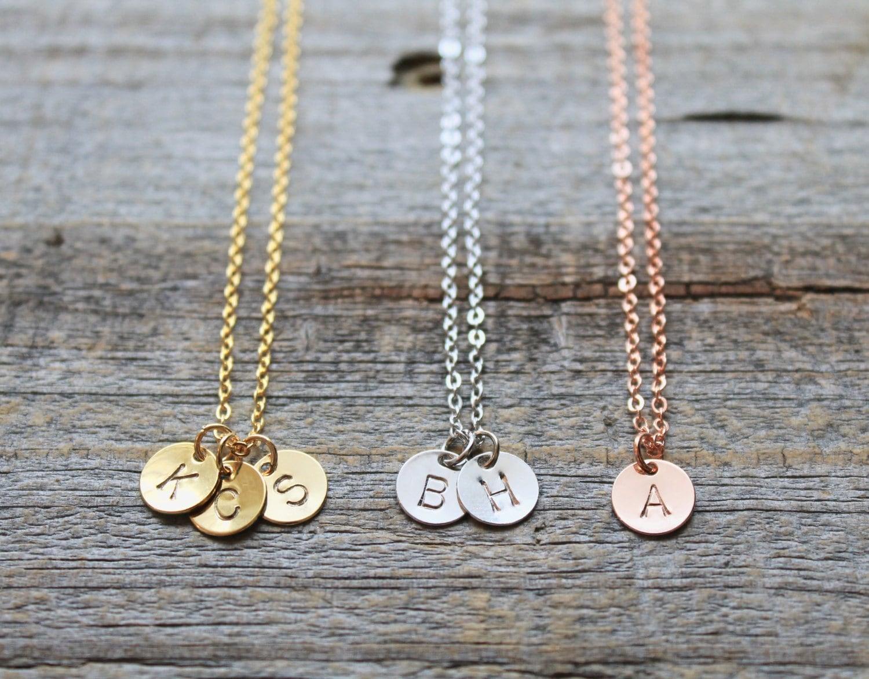 custom name necklace rose gold initial necklace gold. Black Bedroom Furniture Sets. Home Design Ideas