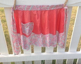 Paisley apron