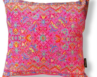 Pink velvet cushion cover CANDY