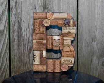Wine Cork Letter B Decoration